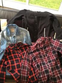 Girls shirts,baseball jacket and top