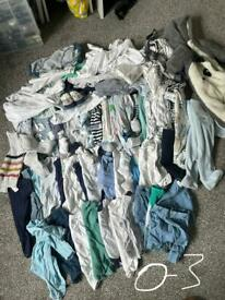 Bag of 0-3 month clothes