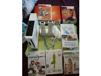 Wii. Wii fit board and 7 games
