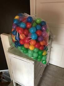 Plastic coloured play balls indoor or outdoor