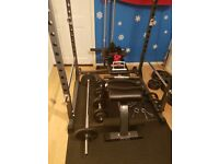 Weights power rack bench