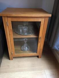 Solid oak display / hifi cabinet