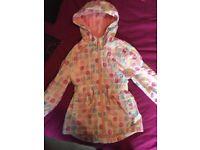 Girls rain coat 6-7years