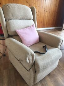 Fabric Power Recliner - Excellent Condition