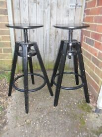 Pair of Ikea Dalfred Bar stools,black,Furniture-Collect Upcycle