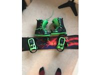 "157"" freestyle dc ply, Boots size 11 + bindings"
