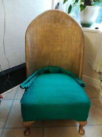 Lloyd Loom bedroom/nursing chair.