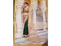 Designer style wedding saree