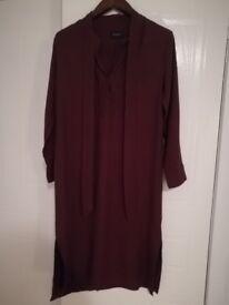 Brand New Marks and Spencer Burgundy Dress