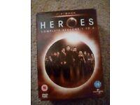 Heroes series 1-3 DVDs
