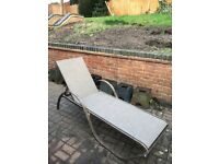 ALUMINIUM SUN LOUNGER WITH FLEX MESH SEATING SUPPORT