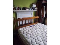 Double bed, double mattress, wardrobe