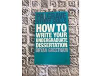 Palgrave study skills - dissertation