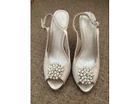 Phase eight ivory bridal shoes size 6