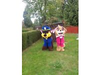 2 x character mascot fancy dress costumes