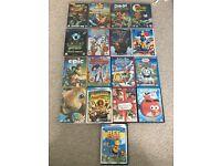 17 children's DVDs inc movies & episodes