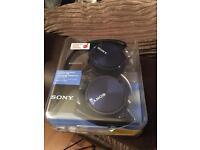 Sony blue headphones