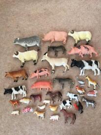 33 toy, farm animals, see photo