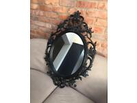 IKEA black vintage style mirror, used but excellent condition