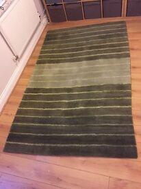 Dunelm mill green rug
