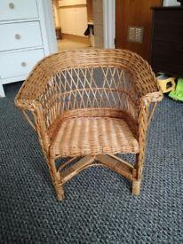 Child wicker chair