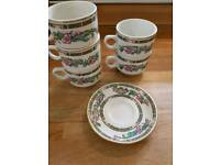 Churchill vintage hotelware stackable mugs x 5