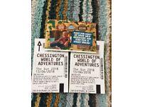 Chessington world of adventures tickets 13th June