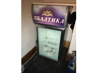 Beer fridge and glasses ( Ukrainian rare )
