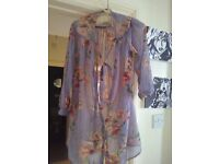 Floral topshop tall blouse