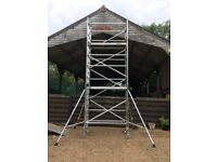 Boss Youngman scaffold tower narrow 6.2M WH X 1.8M