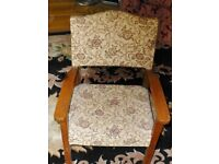 Upholstered childs chair