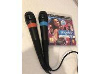 PS3 Singing Game SingStar Dance + 2 Official Wired Singstar Mics Microphones
