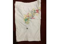 Papaya white shorts with beautiful embroidery size 12