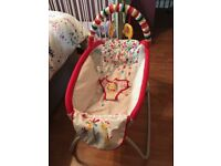 Bright Starts baby elevated rocker/lounger