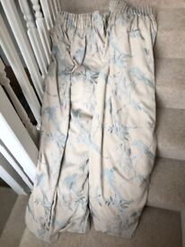 Songbird curtains cream with duck egg bird fully lined as new