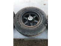 Ford ranger alloy wheels and good tyres