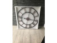 Iron black wall clock and copper numerals large brand new and boxed unopened