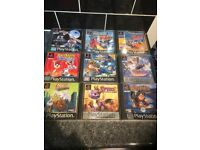 PS1 GAMES SPYRO AND MORE