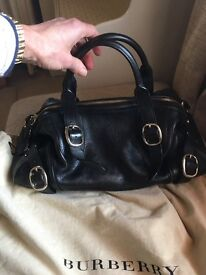 Beautiful black, quality, authentic, Burberry handbag, as new complete with dust bag.