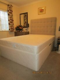 "Double size 4' 6"" divan base and mattress in 'as new' condition"