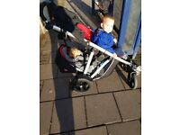 Phil and Ted's double pushchair includes the backseat