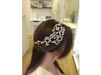 Beautiful Hermione Harbutt Bridal Pearl Hairpiece