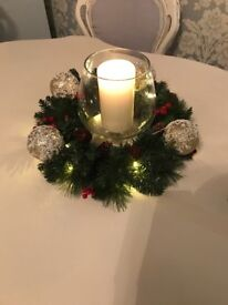 3 x light up marks and Spencer xmas wreaths