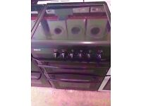 Beko ceramic electric cooker , fan assisted oven and grill, 60 cm wide , black colour, for sale ,,