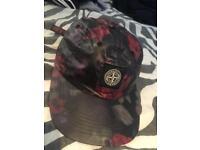 Supreme x stone island floral cap