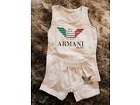 Baby Armani shorts and vest