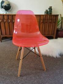 Pink retro chair