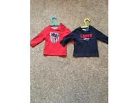 Boys Levi Long sleeve t shirts aged 6 months
