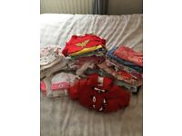 80 items of baby girl clothes newborn to 0-3mts