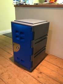 Plastic Grey Body with Blue Door Single Door Locker - Medium